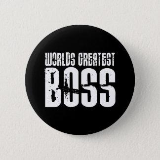 Funny Office Humor Bosses : World's Greatest Boss 6 Cm Round Badge