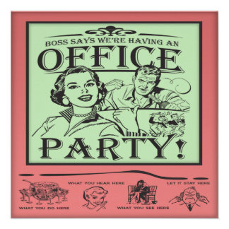 Funny Office Party Invitation
