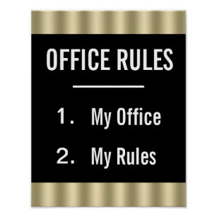 funny office poster. Funny Office Rules Poster