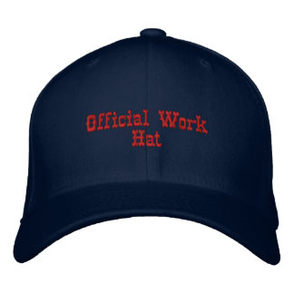 Funny Official Work Hat Embroidered Cap