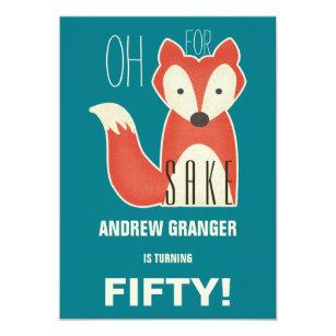 60th men birthday funny cards invitations zazzle funny oh for fox sake birthday party invitation stopboris Images