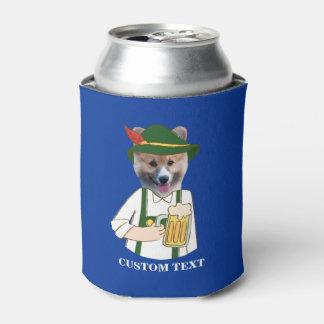 Funny Oktoberfest Corgi Dog & Beer Lover Custom Can Cooler