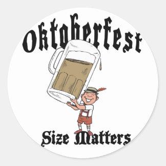 Funny Oktoberfest Drinking Classic Round Sticker