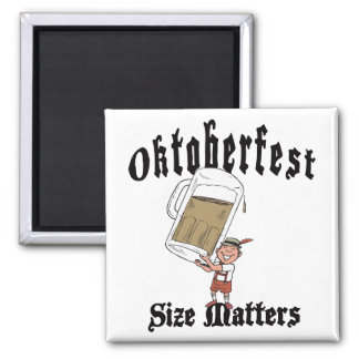 Funny Oktoberfest Drinking Square Magnet
