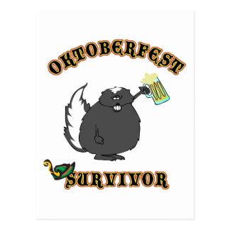 Funny Oktoberfest Survivor Postcard