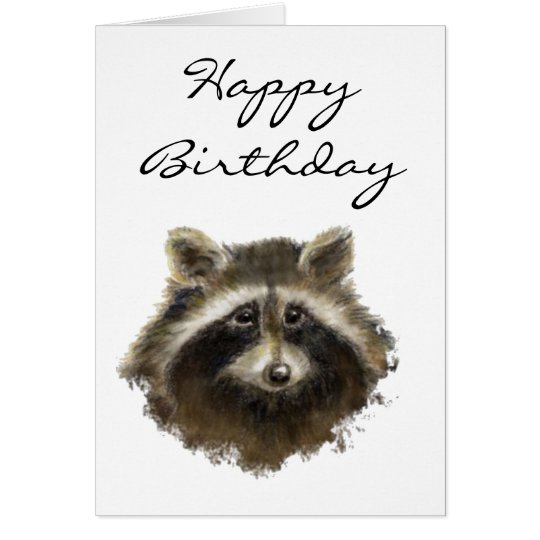 Funny, Old Age, Humour, Birthday Racoon Card