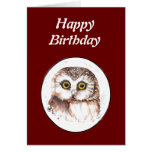 Funny Old Age, Over the Hill Birthday Owl Cards
