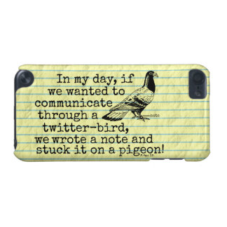 Funny Old Age Twitter Bird Pigeon iPod Touch (5th Generation) Case