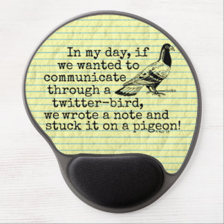 Funny Old Age Twitter Bird Pigeon Gel Mouse Mat
