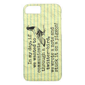 Funny Old Age Twitter Bird Pigeon iPhone 7 Case