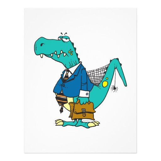 funny old dinosaur cartoon character custom flyer