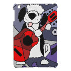 Funny Old English Sheepdog Playing Guitar Art iPad Mini Cover
