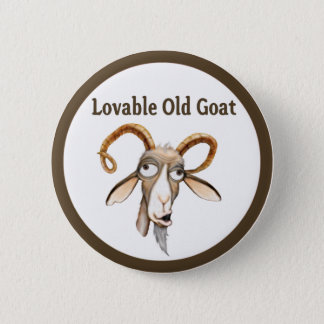 Funny Old Goat 6 Cm Round Badge