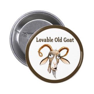Funny Old Goat 6 Cm Round Badge