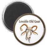 Funny Old Goat 6 Cm Round Magnet