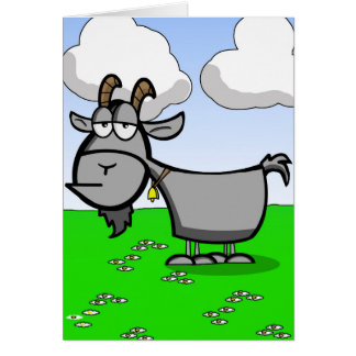 Funny Old Goat Greeting Card