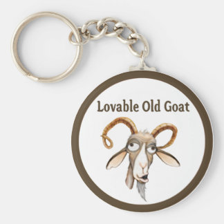 Funny Old Goat Key Ring