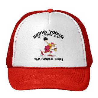 Funny Old Grandpa Bowler Gift Trucker Hats