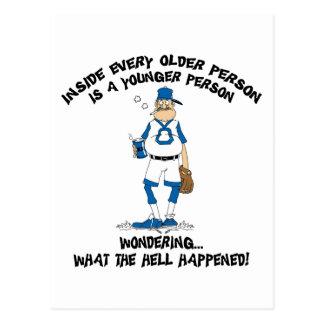 Funny Old Grandpa Gift Postcard