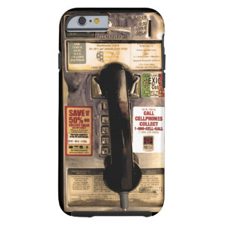 Funny Old Pay Phone Tough iPhone 6 Case