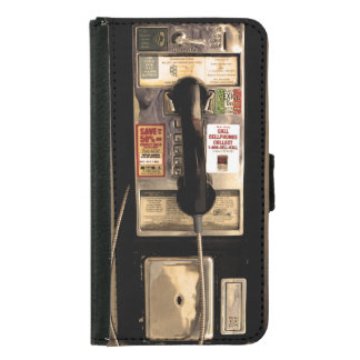 Funny Old Pay Phone Samsung Galaxy S5 Wallet Case