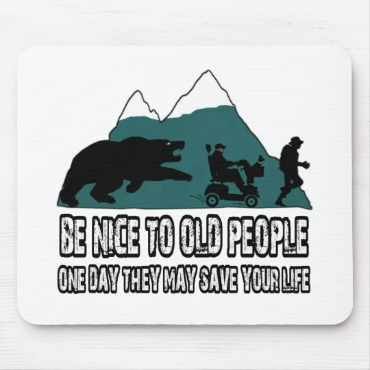 Funny old people mouse pad
