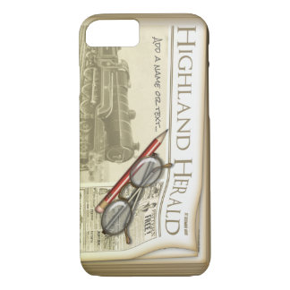 Funny Old Style Newspaper Journalist iPhone 7 Case
