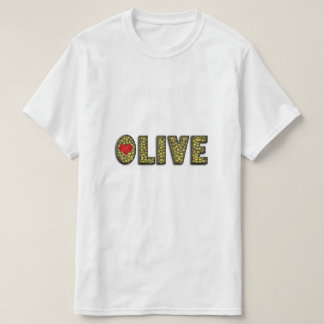 Funny Olive Heart Green Olives Typography Food Tshirts