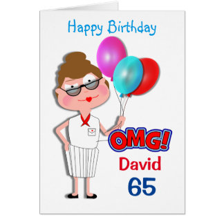 Funny OMG Personalized Milestone Age Birthday Greeting Card