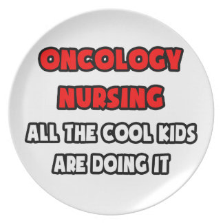 Funny Oncology Nurse Shirts and Gifts Party Plates