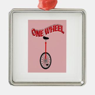Funny One Wheel Christmas Ornaments