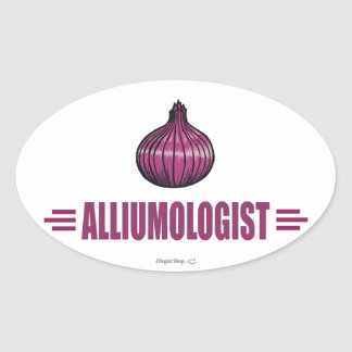 Funny Onions Oval Sticker