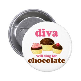 Funny Opera Diva 6 Cm Round Badge