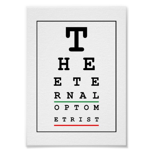 Funny Optician Poster
