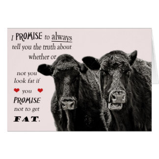 Funny or humourous Cow Valentine's Day Card