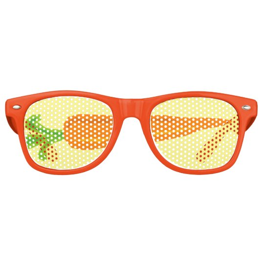 Funny orange carrot veggie party shades sunglasses