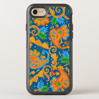 Funny orange floral Paisley Pattern OtterBox Symmetry iPhone 8/7 Case