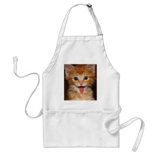 Funny Orange kitty face Standard Apron