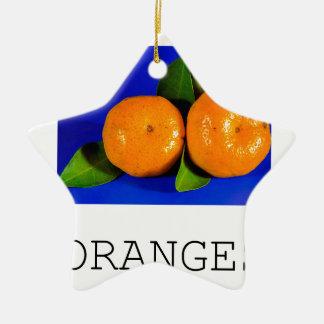 Funny Oranges Design Christmas Ornament