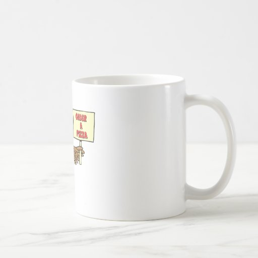 Funny Order A Pizza Thanksgiving Turkey Coffee Mugs