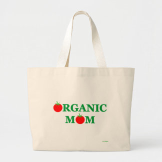 Funny Organic Foods Mom Cartoon Grocery Tote Bag