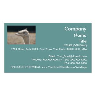 Funny Ostrich - business card template