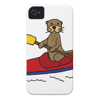Funny Otter Kayaking iPhone 4 Cases