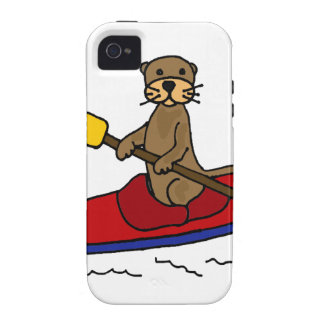 Funny Otter Kayaking Case-Mate iPhone 4 Cover