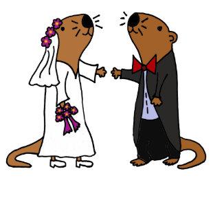 9533e1bcf1 Funny Otter Wedding Cartoon Magnet