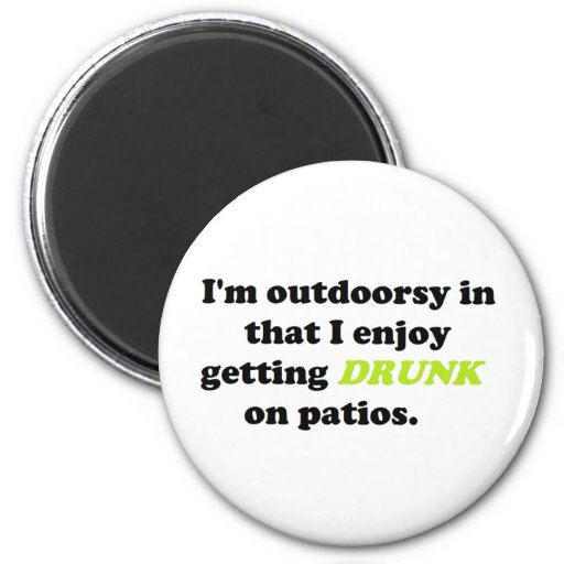 Funny Outdoor Drinking Products Refrigerator Magnets