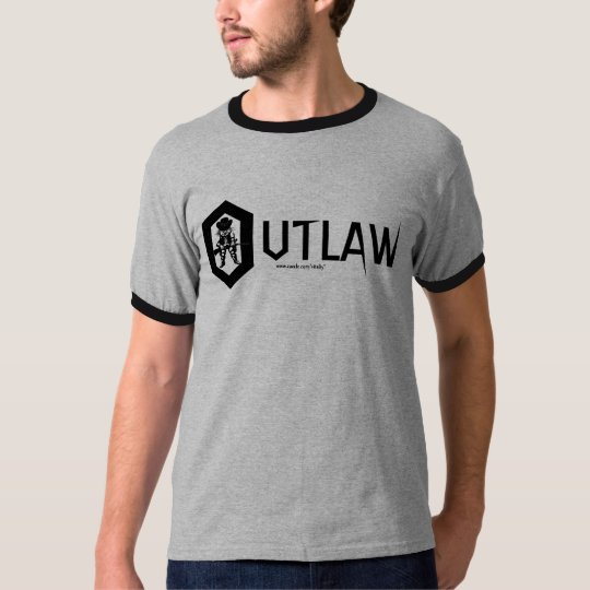Funny outlaw t-shirt design