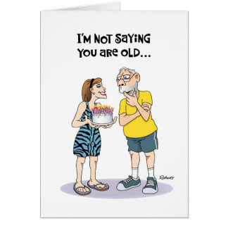 """Funny """"Over the Hill"""" 68th Birthday Greeting Card"""