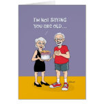 "Funny ""Over the Hill"" 75th Birthday Greeting Card"