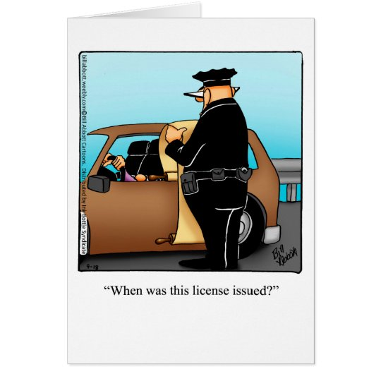 Funny Over The Hill Humour Birthday Card
